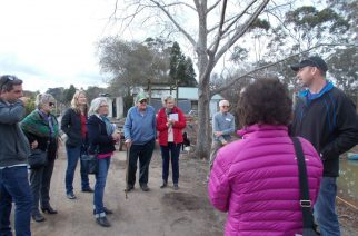 Picture shows Mark Engall addressing part of the group with Ben Swane, next to daughter Elizabeth, in the centre.