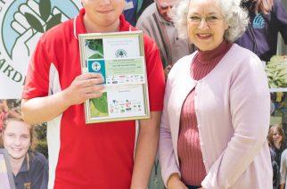 Liam Curtis with HMA's Kathie Thoimas