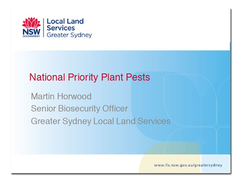 National Priority Plant Pests