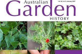 Australian Garden History January issue: gardens are great
